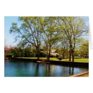 美しい公園場面 カード