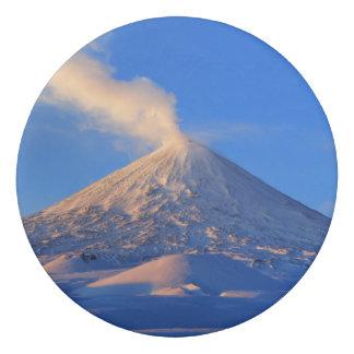 美しい冬の火山景色 消しゴム