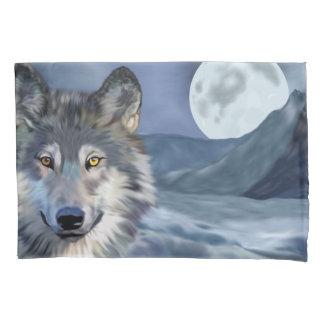 美しい冬場面オオカミ 枕カバー