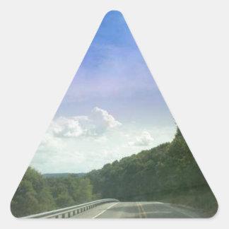 美しい午後の空 三角形シール