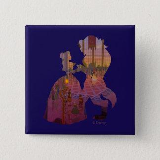 美しい及び獣  Silouetteの踊り 5.1cm 正方形バッジ