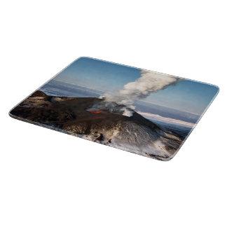 美しい噴火の火山 カッティングボード