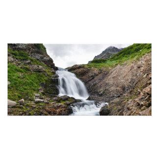 美しい夏の景色-山の滝 カード