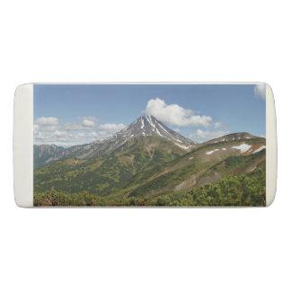 美しい夏の火山景色 消しゴム