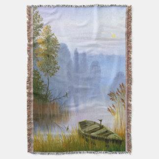 美しい夏の絵画によって編まれるブランケット スローブランケット