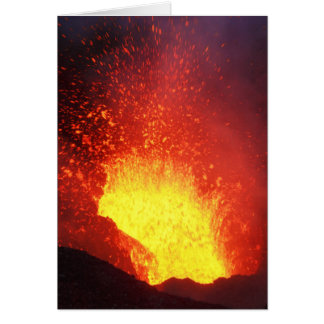 美しい夜火山爆発 カード