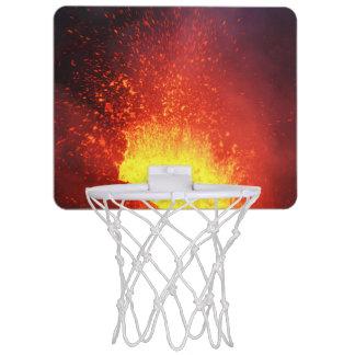 美しい夜火山爆発 ミニバスケットボールネット