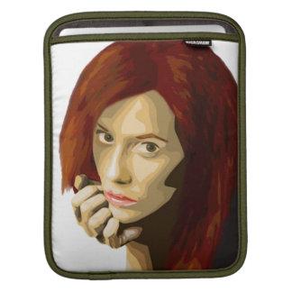 美しい女性の凝視の芸術的なポートレート iPadスリーブ