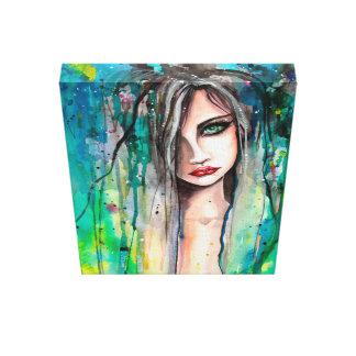美しい女性の抽象芸術のポートレートのファンタジーの芸術 キャンバスプリント