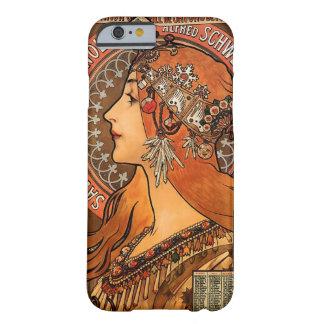 美しい女性プロフィール-ミュシャ BARELY THERE iPhone 6 ケース