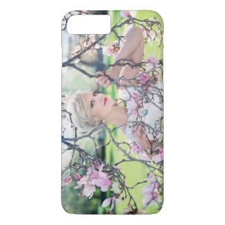 美しい女性、プラスマグノリアのiPhone 7 iPhone 8 Plus/7 Plusケース