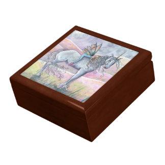 美しい妖精およびユニコーンの木の装身具箱 ギフトボックス