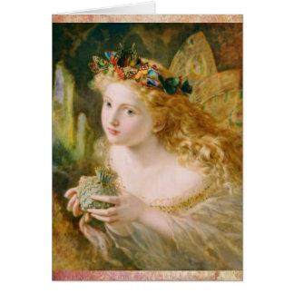 美しい妖精によってはヴィンテージの誕生日が夢を見ます グリーティングカード