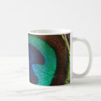 美しい孔雀の羽 コーヒーマグカップ
