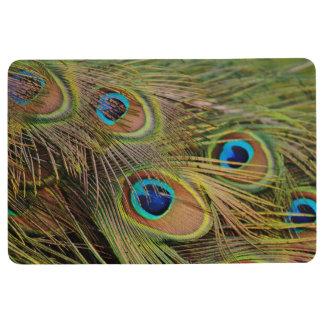 美しい孔雀の羽 フロアマット