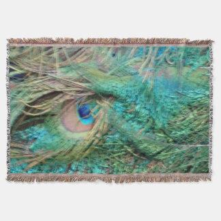 美しい孔雀は美しい目に羽をつけます スローブランケット