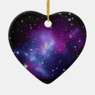 美しい宇宙宇宙の銀河系の集り セラミックオーナメント