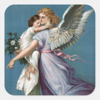美しい守り神の絵画 スクエアシール