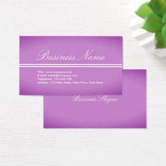 美しい専門の紫色ピンクの名刺 名刺