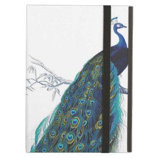 美しい尾羽を持つ青い孔雀 iPad AIRケース