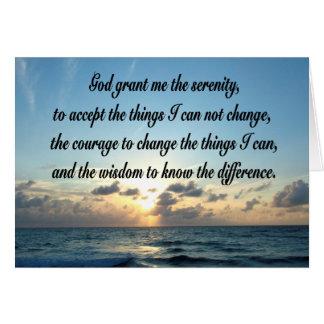 美しい平静の祈りの言葉の海の写真 カード