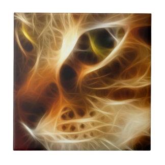 美しい幽霊の火猫 タイル