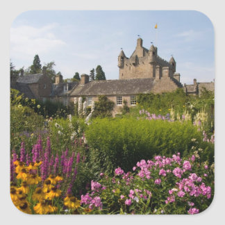 美しい庭および有名な城 スクエアシール