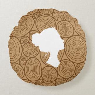 美しい強さ(木) -円の枕 ラウンドクッション