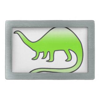 美しい恐竜 長方形ベルトバックル