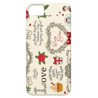 美しい愛Iphoneの場合、非常に iPhone SE/5/5s ケース