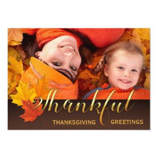 美しい感謝祭の写真 カード
