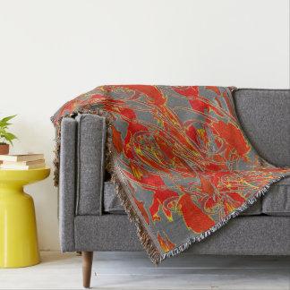 美しい抽象芸術、投球毛布と居心地のよい! スローブランケット
