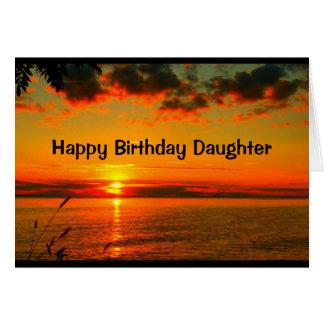 美しい日娘の誕生日はあります グリーティングカード