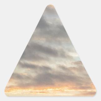 美しい日没のステッカー 三角形シール