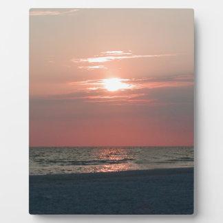 美しい日没の写真のプリント フォトプラーク