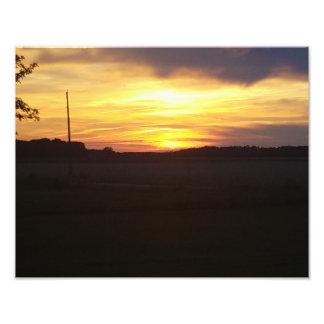 美しい日没11x14の写真ポスター フォトプリント
