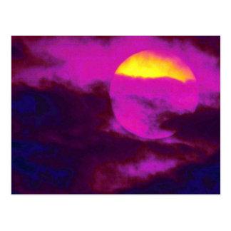 美しい日没: ハノイ、ベトナム ポストカード