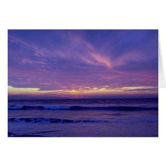 美しい日没: 代表団のビーチ、サンディエゴ、Califo カード