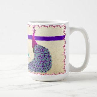 美しい日-孔雀のマグ コーヒーマグカップ