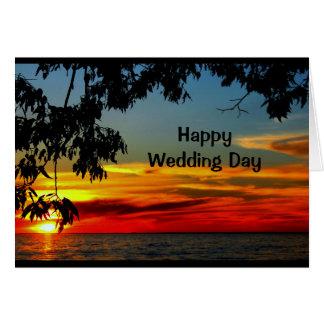 美しい明日の結婚式の招待状の寿命 カード