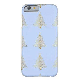 美しい星明かりの金属金ゴールドのクリスマスツリー BARELY THERE iPhone 6 ケース