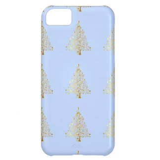 美しい星明かりの金属金ゴールドのクリスマスツリー iPhone5Cケース