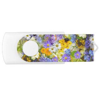 美しい春草原の花USBのフラッシュドライブ USBフラッシュドライブ