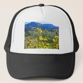 美しい服装は山の写真と印刷しました キャップ