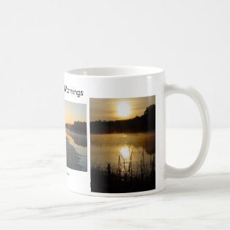 美しい朝霧深い湖のマグ コーヒーマグカップ