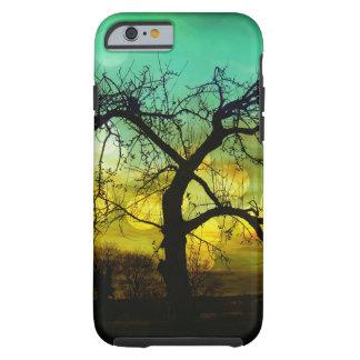 美しい木のシルエットの日没のiPhone6ケース ケース