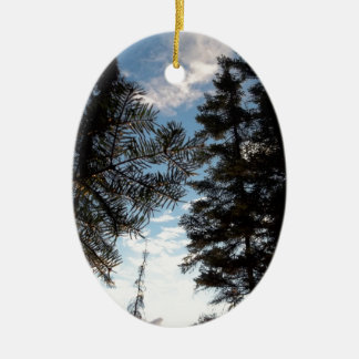 美しい松の木 セラミックオーナメント