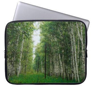 美しい樺の木の森林芸術 ラップトップスリーブ