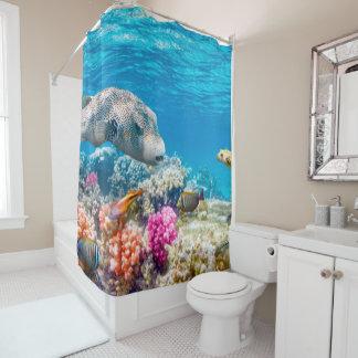 美しい水中魚の世界、wather シャワーカーテン