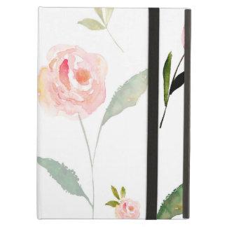 美しい水彩画の花柄 iPad AIRケース